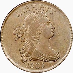 1805 1/2C MS obverse