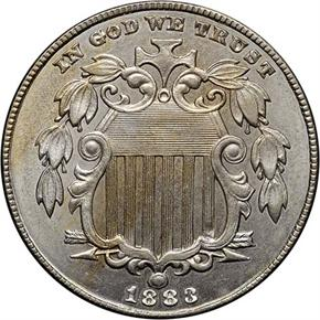1883 SHIELD 5C MS obverse