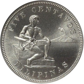 1903 USA-PHIL 5C PF obverse