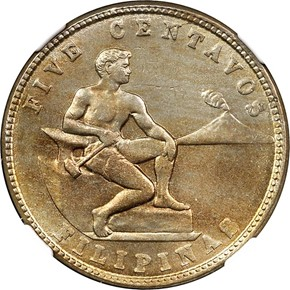 1930 M USA-PHIL 5C MS obverse