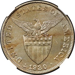 1930 M USA-PHIL 5C MS reverse