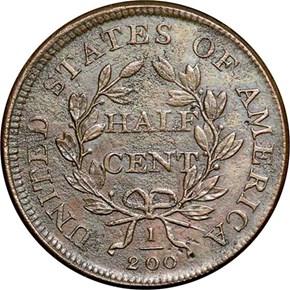 1808 1/2C MS reverse