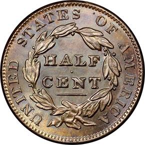 1835 1/2C MS reverse