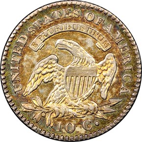 1823/2 10C MS reverse