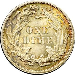 1886 10C MS reverse