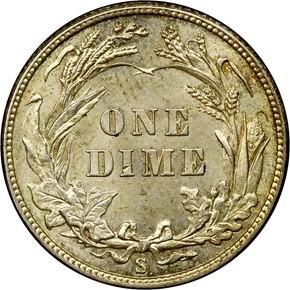 1911 S 10C MS reverse