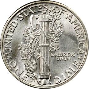 1934 D 10C MS reverse