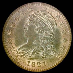 1821 10C MS obverse