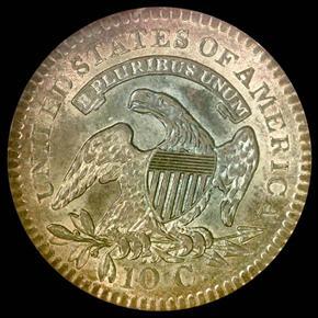 1821 10C MS reverse