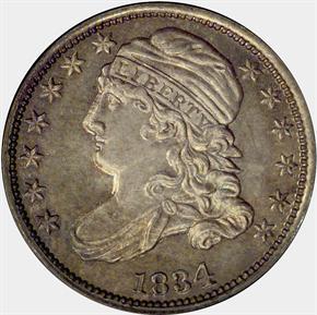 1834 10C PF obverse