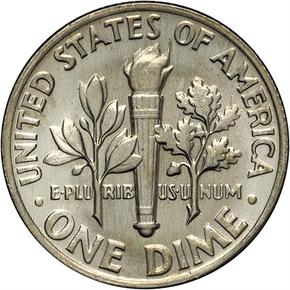 1967 10C MS reverse