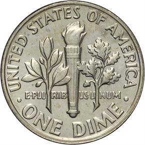 1969 D 10C MS reverse