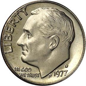 1977 D 10C MS obverse