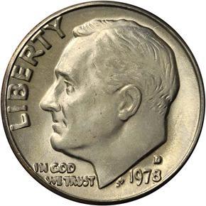 1978 D 10C MS obverse