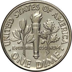 1986 D 10C MS reverse