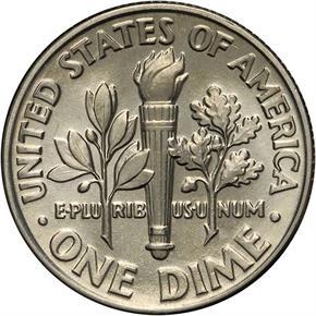 1989 D 10C MS reverse