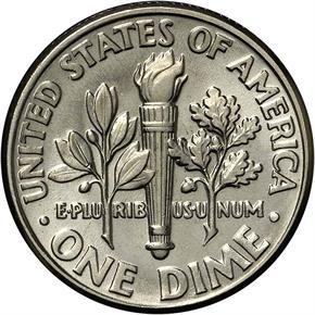 1994 D 10C MS reverse