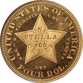 1879 COILED HAIR $4 PF reverse