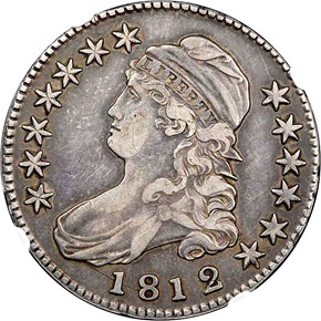 1812/1 LARGE 8 50C MS obverse