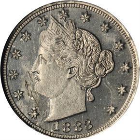 1883 J-1719 5C PF obverse