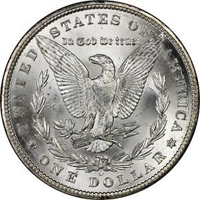 1899 O S$1 MS reverse