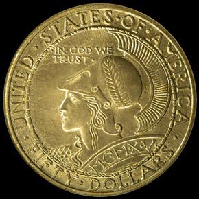 1915 S PAN PAC ROUND $50 MS obverse