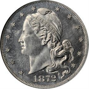 1872 J-1242 $5 PF obverse