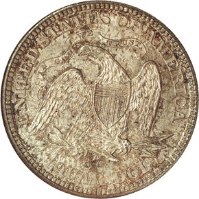1873 CC ARROWS 25C MS reverse