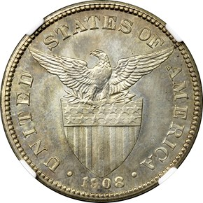 1908 USA-PHIL 50C PF reverse