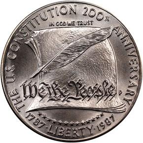 1987 P CONSTITUT S$1 MS obverse