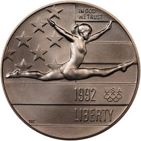 1992 P OLYMPICS 50C MS obverse