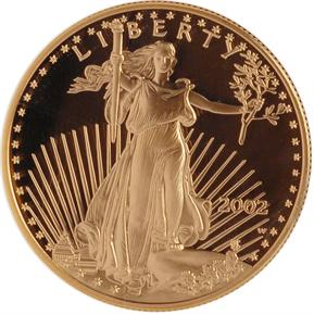 2002 W EAGLE G$50 PF obverse