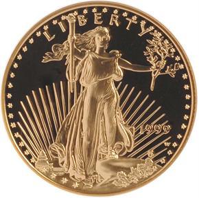 1999 W EAGLE G$25 PF obverse