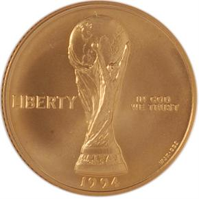 1994 W WORLD CUP $5 MS obverse