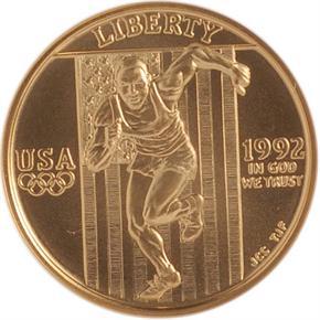 1992 W OLYMPICS $5 MS obverse