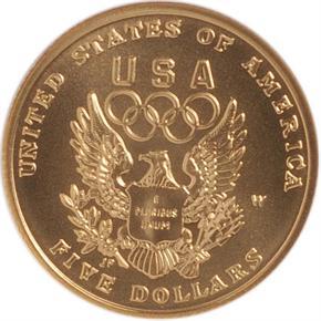 1992 W OLYMPICS $5 MS reverse