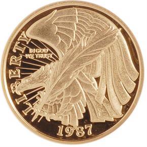 1987 W CONSTITUT $5 PF obverse