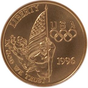 1996 W OLYMPICS FLAG BEARER $5 MS obverse