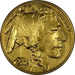 2006 BUFFALO .9999 FINE G$50 MS obverse