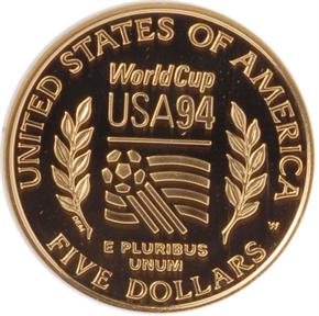 1994 W WORLD CUP $5 PF reverse