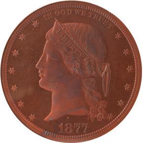 1877 J-1543 S$1 PF obverse