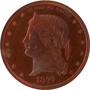 1877 J-1544 S$1 PF obverse