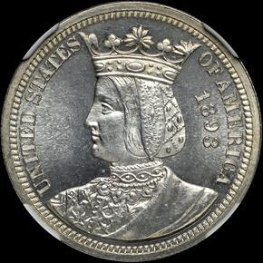 1893 ISABELLA 25C PF obverse