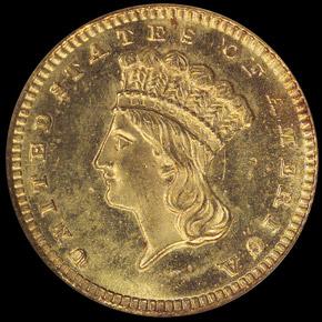 1872 G$1 MS obverse