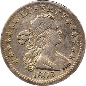 1803 H10C MS obverse