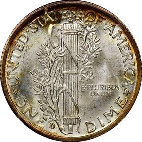 1938 D 10C MS reverse