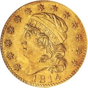 1814/3 $5 MS obverse