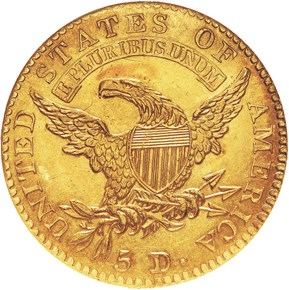1814/3 $5 MS reverse