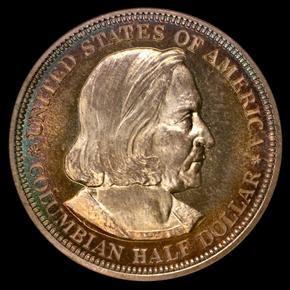 1892 COLUMBIAN 50C PF obverse