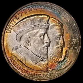 1924 HUGUENOT 50C MS obverse